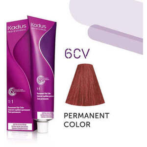 Kadus Professional Permanent Hair Color - 6CV Dark Blonde Copper Violet 2 oz. (7918)
