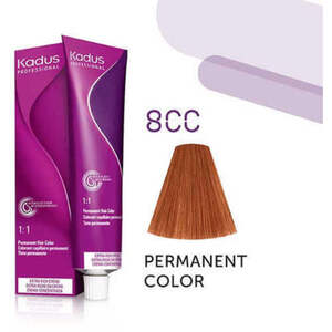 Kadus Professional Permanent Hair Color - 8CC Light Blonde Intense Copper 2 oz. (7859)