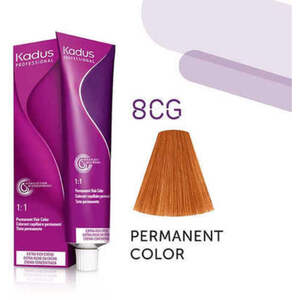 Kadus Professional Permanent Hair Color - 8CG Light Blonde Copper Gold 2 oz. (7927)