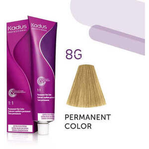 Kadus Professional Permanent Hair Color - 8G Light Blonde Gold 2 oz. (7928)
