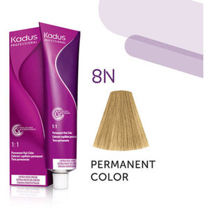 Kadus Professional Permanent Hair Color - 8N Light Blonde 2 oz. (7929)
