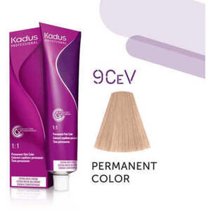 Kadus Professional Permanent Hair Color - 9CeV Very Light Blonde Cendre Violet 2 oz. (4636)