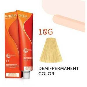 Kadus Professional Demi-Permanent Hair Color - 10G Lightest Blonde Gold 2 oz. (7895)