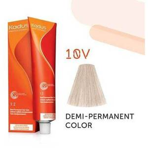 Kadus Professional Demi-Permanent Hair Color - 10V Lightest Blonde Violet 2 oz. (7864)
