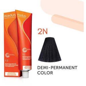 Kadus Professional Demi-Permanent Hair Color - 2N Black 2 oz. (7878)