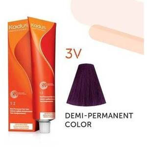 Kadus Professional Demi-Permanent Hair Color - 3V Dark Brunette Violet 2 oz. (7880)