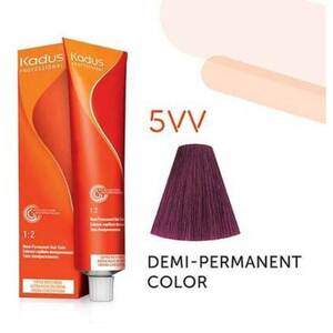 Kadus Professional Demi-Permanent Hair Color - 5VV Light Brunette Intense Violet 2 oz. (7884)