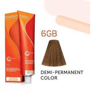 Kadus Professional Demi-Permanent Hair Color - 6GB Dark Blonde Gold Brown 2 oz. (4645)