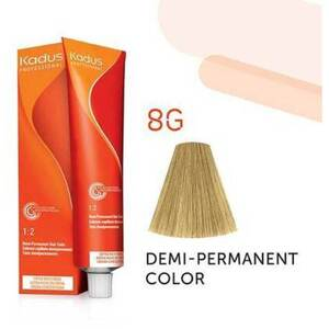 Kadus Professional Demi-Permanent Hair Color - 8G Light Blonde Gold 2 oz. (7892)