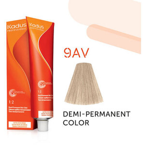 Kadus Professional Demi-Permanent Hair Color - 9AV Very Light Blonde Ash Violet 2 oz. (7855)