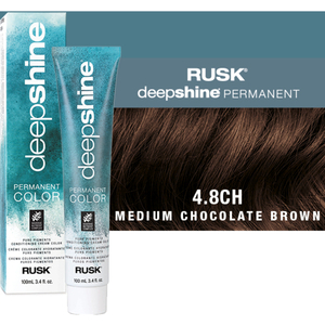 Rusk Deepshine Pure Pigments Conditioning Cream Color 4.8CH Medium Chocolate Brown 3.4 oz. (9360)