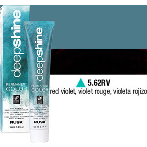 Rusk Deepshine Pure Pigments Conditioning Cream Color 5.62RV Red Violet 3.4 oz. (9354)