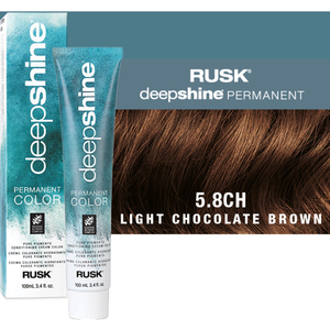 Rusk Deepshine Pure Pigments Conditioning Cream Color 5.8CH Light Chocolate Brown 3.4 oz. (9361)