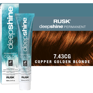 Rusk Deepshine Pure Pigments Conditioning Cream Color 7.43CG Copper Golden Blonde 3.4 oz. (9322)