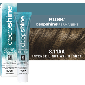 Rusk Deepshine Pure Pigments Conditioning Cream Color 8.11AA Intense Light Ash Blonde 3.4 oz. (9333)