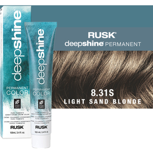 Rusk Deepshine Pure Pigments Conditioning Cream Color 8.31S Light Sand Blonde 3.4 oz. (9372)