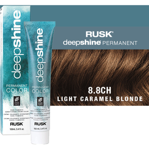 Rusk Deepshine Pure Pigments Conditioning Cream Color 8.8CH Light Caramel Blonde 3.4 oz. (9369)