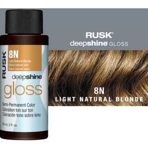 Rusk Deepshine Gloss - Liquid Demi-Permanent Color 5-in-1 Illuminating Formula 8N Light Natural Blonde 2 oz. (9539)