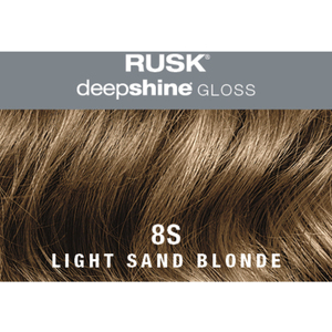 Rusk Deepshine Gloss - Liquid Demi-Permanent Color 5-in-1 Illuminating Formula 8S Light Sand Blonde 2 oz. (9583)