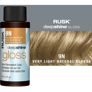 Rusk Deepshine Gloss - Liquid Demi-Permanent Color 5-in-1 Illuminating Formula 9N Very Light Natural Blonde 2 oz. (9538)