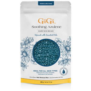 GIGI Soothing Azulene Hard Wax Beads - Stripless Wax 14 oz. (2144)