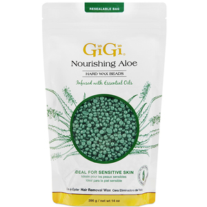 GIGI Nourishing Aloe Vera Hard Wax Beads - Stripless Wax 14 oz. (4059)