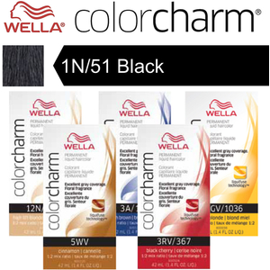 Wella Color Charm Permanent Liquid Haircolor - 1N51 Black 1.4 oz. (6606)
