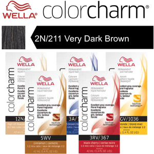 Wella Color Charm Permanent Liquid Haircolor - 2N211 Very Dark Brown 1.4 oz. (6703)