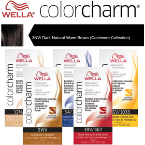 Wella Color Charm Permanent Liquid Haircolor - 3NW Dark Natural Warm Brown (Cashmere Collection) 1.4 oz. (6670)
