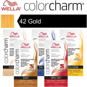 Wella Color Charm Permanent Liquid Haircolor - 42 Gold 1.4 oz. (6652)