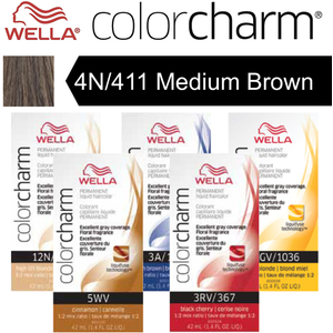 Wella Color Charm Permanent Liquid Haircolor - 4N411 Medium Brown 1.4 oz. (6618)