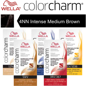 Wella Color Charm Permanent Liquid Haircolor - 4NN Intense Medium Brown 1.4 oz. (6597)