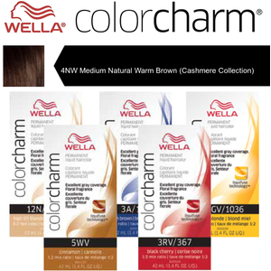 Wella Color Charm Permanent Liquid Haircolor - 4NW Medium Natural Warm Brown (Cashmere Collection) 1.4 oz. (6669)
