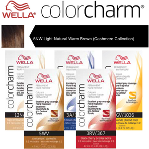 Wella Color Charm Permanent Liquid Haircolor - 5NW Light Natural Warm Brown (Cashmere Collection) 1.4 oz. (6668)