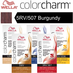 Wella Color Charm Permanent Liquid Haircolor - 5RV507 Burgundy 1.4 oz. (6623)