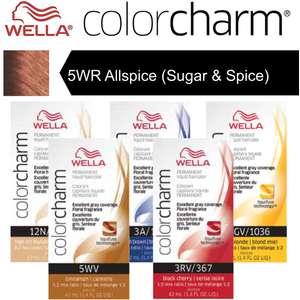 Wella Color Charm Permanent Liquid Haircolor - 5WR Allspice (Sugar & Spice) 1.4 oz. (6638)