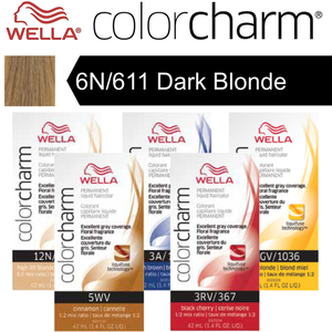 Wella Color Charm Permanent Liquid Haircolor - 6N611 Dark Blonde 1.4 oz. (6629)