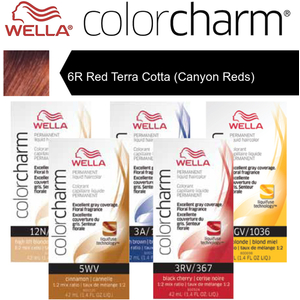 Wella Color Charm Permanent Liquid Haircolor - 6R Red Terra Cotta (Canyon Reds) 1.4 oz. (6661)