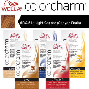 Wella Color Charm Permanent Liquid Haircolor - 6RG544 Light Copper (Canyon Reds) 1.4 oz. (6653)