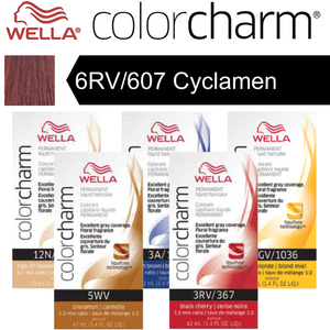 Wella Color Charm Permanent Liquid Haircolor - 6RV607 Cyclamen 1.4 oz. (6704)