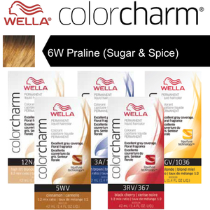 Wella Color Charm Permanent Liquid Haircolor - 6W Praline (Sugar & Spice) 1.4 oz. (6628)