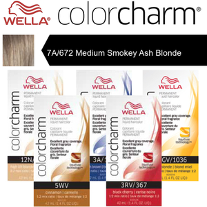 Wella Color Charm Permanent Liquid Haircolor - 7A672 Medium Smokey Ash Blonde 1.4 oz. (6640)