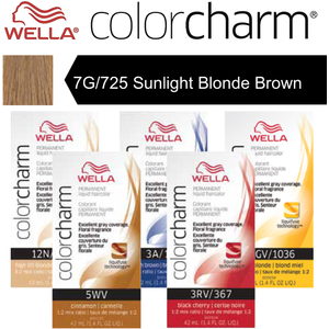 Wella Color Charm Permanent Liquid Haircolor - 7G725 Sunlight Blonde Brown 1.4 oz. (6635)
