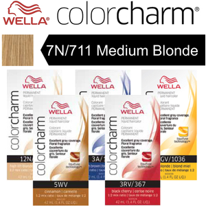 Wella Color Charm Permanent Liquid Haircolor - 7N711 Medium Blonde 1.4 oz. (6634)