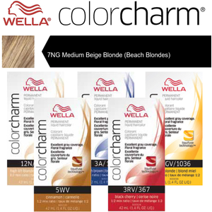 Wella Color Charm Permanent Liquid Haircolor - 7NG Medium Beige Blonde (Beach Blondes) 1.4 oz. (6626)