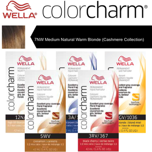 Wella Color Charm Permanent Liquid Haircolor - 7NW Medium Natural Warm Blonde (Cashmere Collection) 1.4 oz. (6666)