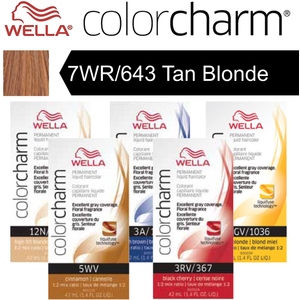 Wella Color Charm Permanent Liquid Haircolor - 7WR643 Tan Blonde 1.4 oz. (6632)