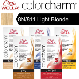 Wella Color Charm Permanent Liquid Haircolor - 8N811 Light Blonde 1.4 oz. (6639)