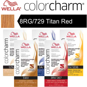 Wella Color Charm Permanent Liquid Haircolor - 8RG729 Titan Red 1.4 oz. (6636)