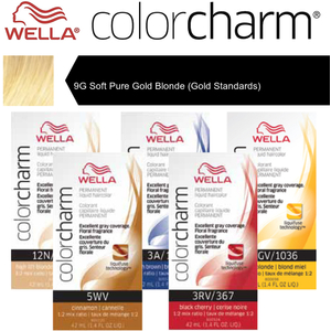 Wella Color Charm Permanent Liquid Haircolor - 9G Soft Pure Gold Blonde (Gold Standards) 1.4 oz. (6699)